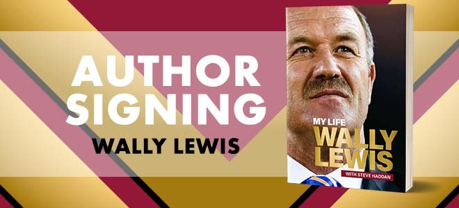 Wally Lewis Book Signing Townsville