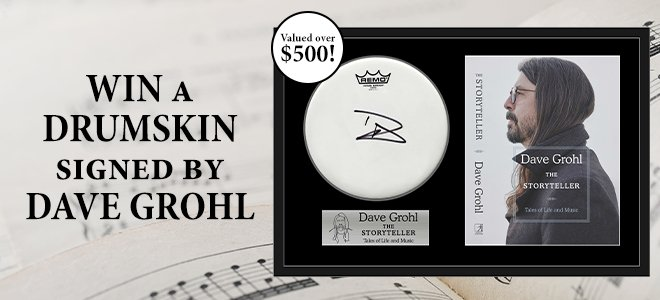 Win A Signed Dave Grohl Drumskin
