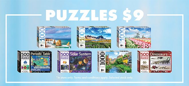March 2021 SALE $9 Puzzle Offer
