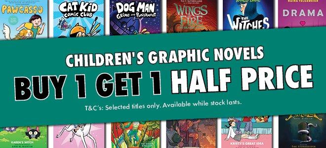 Buy 1 Get 1 Half Price Children's Graphic Novels June 201