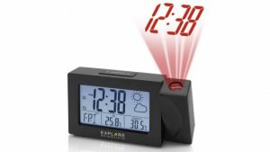 Explore Scientific Black Projection Clock In/Outdoor Weather Sensor by Various