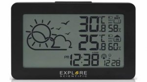 Explore Scientific Large Display Weather Station Temp/Humidity by Various