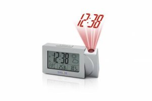 Explore Scientific Silver Projection Clock In/Outdoor Weather Sensor by Various