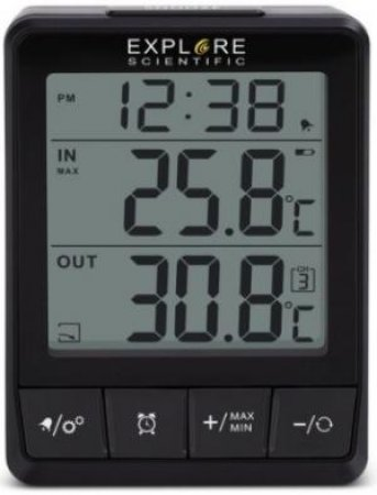 Explore Scientific Indoor/Outdoor Thermometer by Various