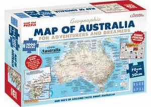 Map Of Australia Jigsaw Puzzle.Map Of Australia For Adventurers Dreamers Jigsaw Puzzle By Australian Geographic 633793018824 Qbd Books
