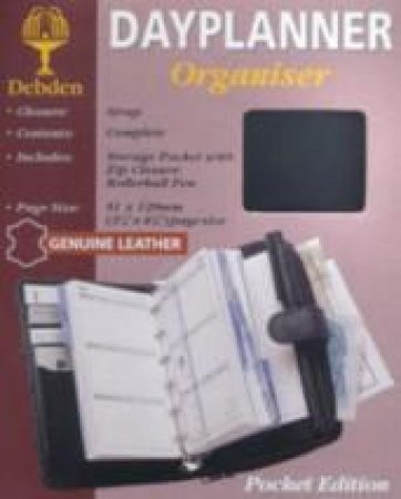 Pocket Debden 6-Ring Dayplanner Organiser With Wallet - Week To View - Black by Week To View