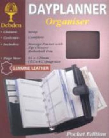 Pocket Debden 6-Ring Dayplanner Organiser With Wallet - Week To View - Burgundy by Week To View