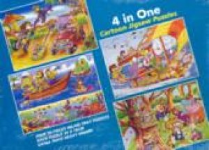 4 In One Cartoon Jigsaw Puzzles by Various