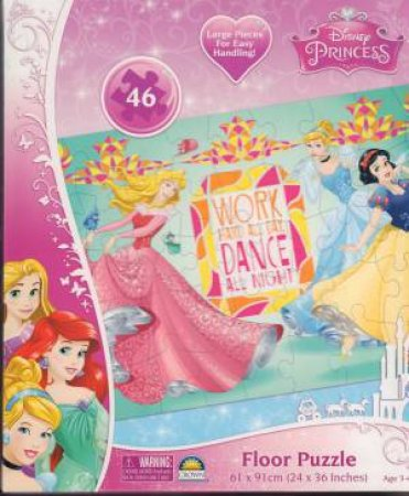Disney Princess Work Hard All Day Floor Puzzle