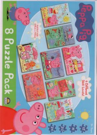 8 In 1 Puzzle Pack: Peppa Pig