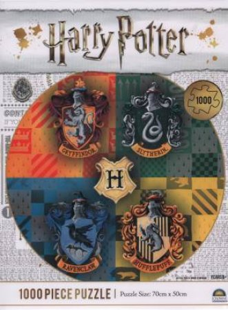 Harry Potter 1000 Piece Puzzle: Hogwarts Houses