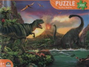 Dinosaur 300 Pce Puzzle: Dino Attack