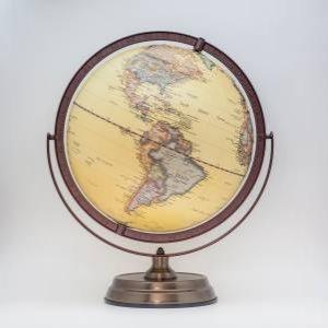 30cm Antique Full Meridian Globe by Various
