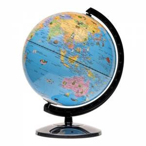 25cm Political Map Kids Animal Globe by Various