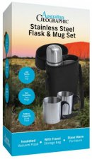 Australian Geographic Stainless Steel Flask  Mug Set