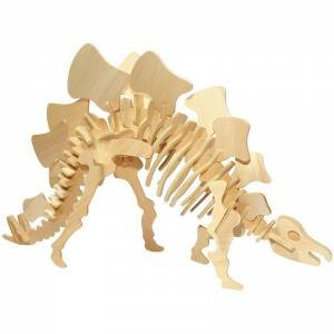 Giant 3D Wooden Dinosaur: Stegosaurus by Various
