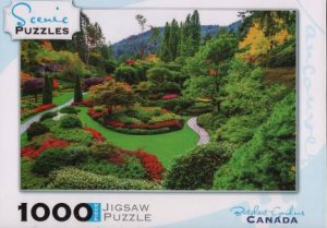 Scenic 1000 Piece Puzzles: Butchart Gardens, Vancouver Island