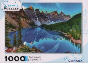 Scenic 1000 Piece Puzzles: Moraine Lake Sunrise, Banff National Park, Canada