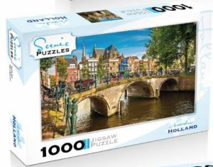 Scenic 1000 Piece Puzzles: Amsterdam, Holland