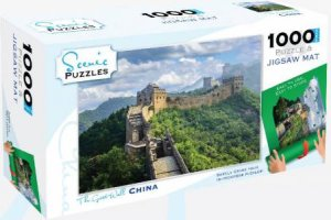 Scenic Locations 1000 Piece Puzzle & Mat: The Great Wall, China
