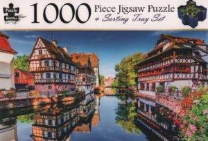 1000 Piece Jigsaw Puzzle & Sorting Tray: Strasbourg, France