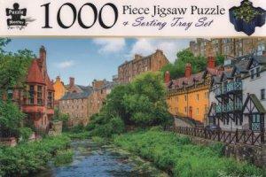 1000 Piece Jigsaw Puzzle & Sorting Tray: Edinburgh, Scotland