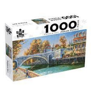 Puzzle Art 1000 Piece Jigsaw: Riverbank Fisherman