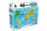 48 Piece Jumbo Floor Puzzle World Map