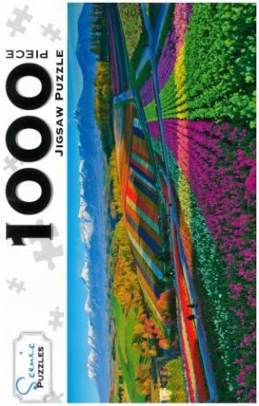 Scenic 1000 Piece Puzzles: Flower Gardens, Shikisai Hill, Japan