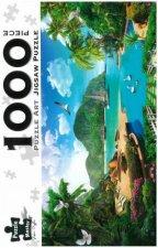 Puzzle Art 1000 Piece Jigsaw Tropical Hideaway