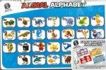 Set 4 Foam Educational Place Mats Animal Alphabet Kindy