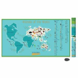 Kids Animal Scratch Map by Various