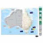 AG Australia Scratch Map Poster