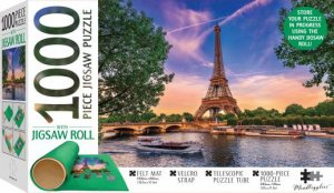 Mindbogglers Jigsaw Roll With 1000 Piece Puzzle: Eiffel Tower, Paris, France