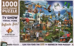 1000 Piece Puntastic Jigsaw Puzzle: TV Shows by Various