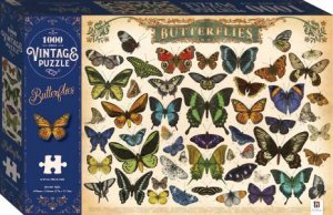 1000 Piece Vintage Jigsaw Puzzle: Butterflies by Various