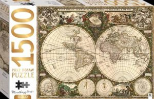 Mindbogglers Gold 1500 Piece Jigsaw: World Map by Various