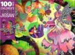 100 Piece Childrens Sparkly Jigsaw Magical Fairies