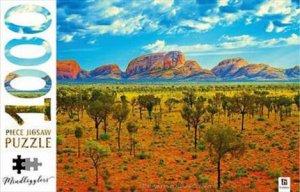 Mindbogglers 1000 Piece Jigsaw: Uluru-Kata Tjuta National Park, Australia