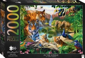 Illustrated 2000pc Jigsaws: In The Jungle