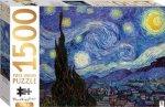 Mindbogglers Gold 1500 Piece Jigsaw Starry Night By Van Gough