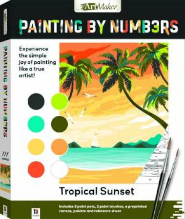 Painting By Numbers: Tropical Sunset by Various