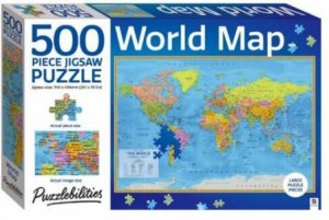 Puzzlebilities 500 Piece Jigsaw Puzzle: World Map by Various