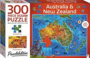 Puzzlebilities 300 Piece Jigsaw Puzzle: Map Of Australia & New Zealand