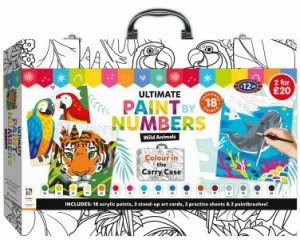 Ultimate Paint By Numbers Carry Case: Wild Animals