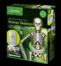 Australian Geographic Mould and Paint Glow Human Skeleton
