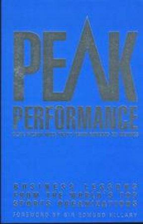 Peak Performance by Gilson, Pratt, Roberts & Weymes