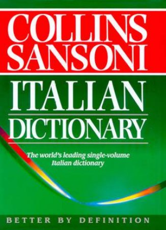 Collins Sansoni Italian Dictionary by Various