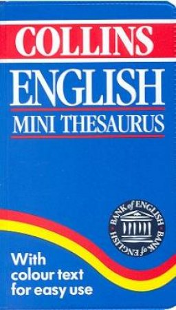 Collins English Mini Thesaurus by Various