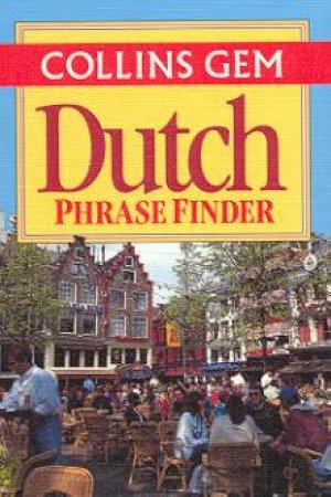 Collins Gem: Dutch Phrasefinder by Various
